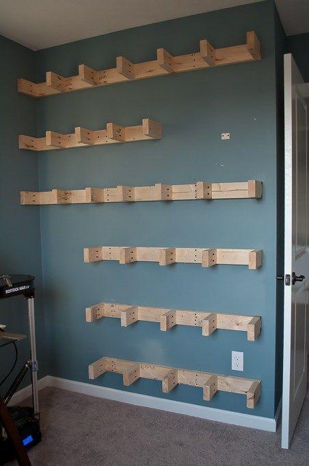 How To Build Floating Shelves Under Masculine Office - Diy build industrial hanging shelf