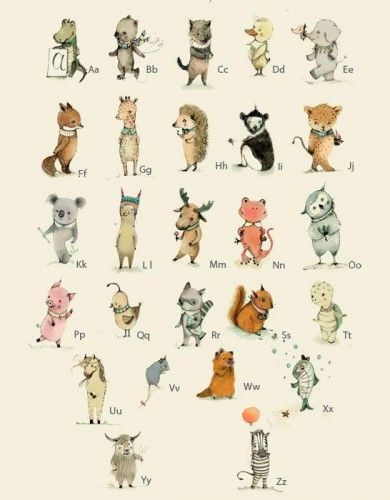 Animal Abc S Wall Decals Too Cute Never Too Early To Start Learning Childrens Wall Art Print Animal Alphabet Nursery Childrens Wall Art