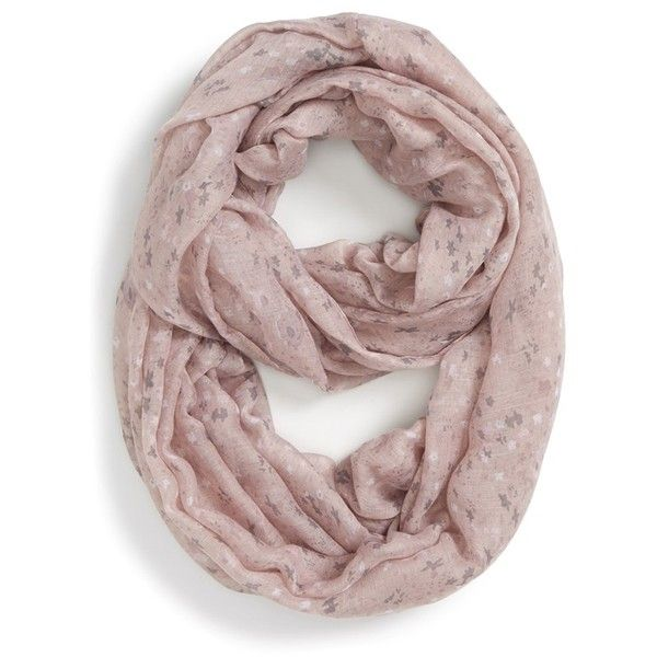 Junior BP. Speckled Floral Infinity Scarf (€8,16) ❤ liked on Polyvore featuring accessories, scarves, mauve, floral infinity scarves, floral print infinity scarf, tube scarf, circle loop scarf and circle scarves
