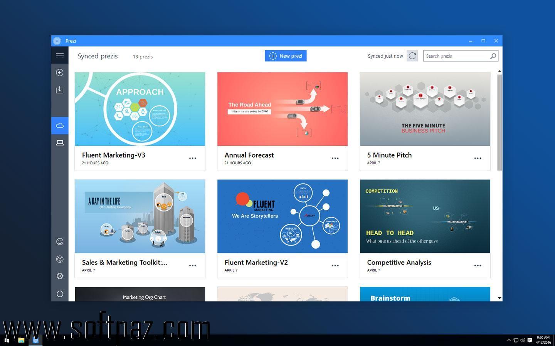 Hi fellow windows user! You can download Prezi Desktop for free ...