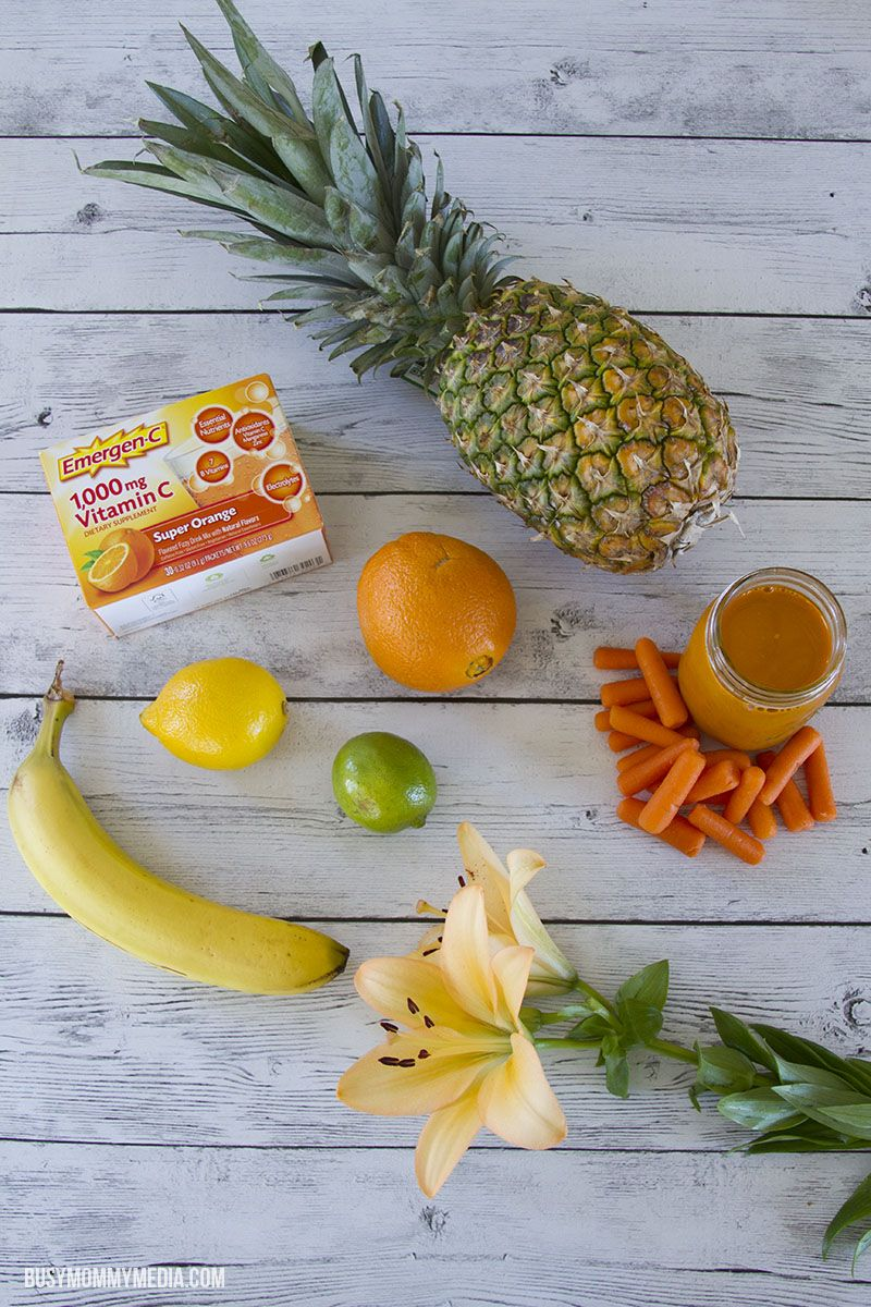 Mornin' Sunshine! Breakfast Smoothie | This is a great way to start the morning!