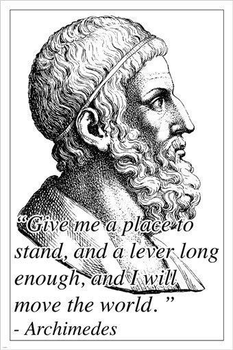 Archimedes Inspirational Motivational Photo Quote Poster Ancient Greek 24x36 History Quotes Ancient Greek Quotes Quote Posters