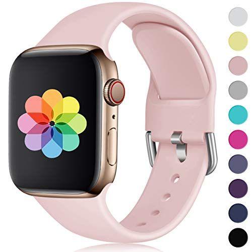 Humenn Kompatibel Mit Apple Watch Armband 38mm 40mm 42mm 44mm Weiches Silikon Klassisch Sport Ersatzband Fur Iw Apple Watch Apple Watch 42mm Apple Watch Strap