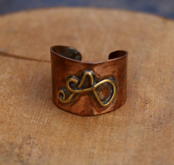 Rame e ottone anello fatto a mano dimensioni di ShockedShop