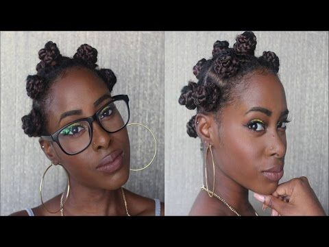 Peachy Bantu Knots Using Crochet Braids Youtube Braids Weaves Wigs Short Hairstyles Gunalazisus