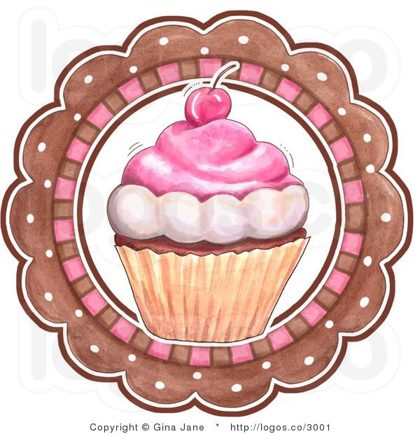Royalty Free Vector Of A Cupcake And Circle Bakery Logo Possible
