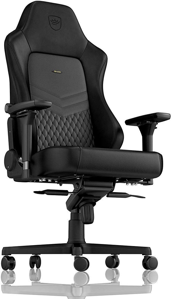 Amazon Com Noblechairs Hero Gaming Chair Office Chair Desk Chair Pu Leather 330 Lbs 125 Reclinable Lumbar Su Gaming Chair Racing Seats Desk Chair