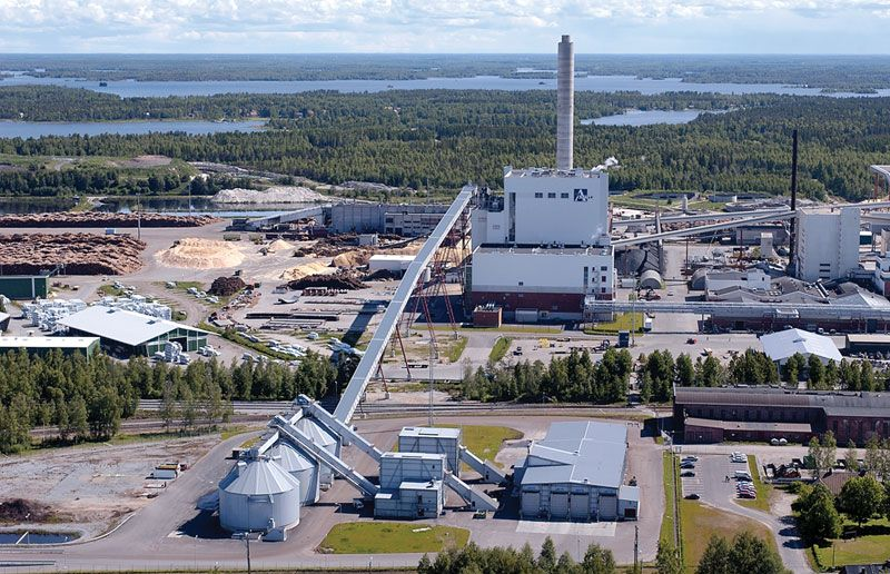 World's Largest Dry Biomass-Fired Power Plant Oy Alholmens Kraft in Pietarsaari, Finland