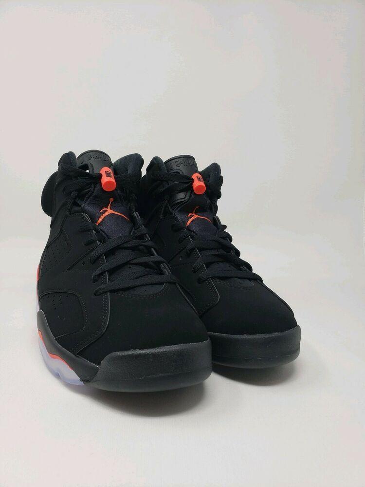 468c1afe522f 2019 Nike Air Jordan Retro 6 Black Infrared DEADSTOCK MEN S Size 8.5 iN  HAND  shoes