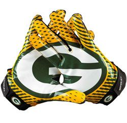 7a169ce80b9c1 greenbay packers gloves | Green Bay Packers Vapor Jet Nike Receiver ...
