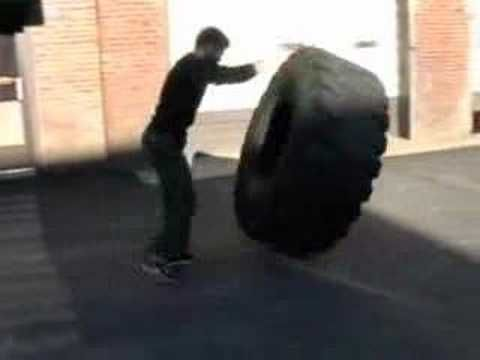 Tire Flip - 600lbs - YouTube