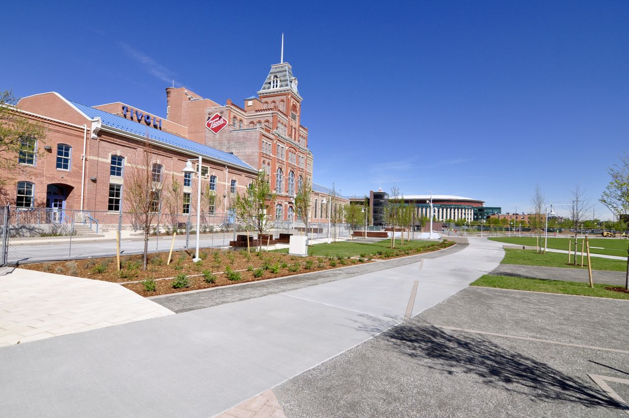 auraria tivoli commons quad design by wenk associates on construction wall structure general info id=24250