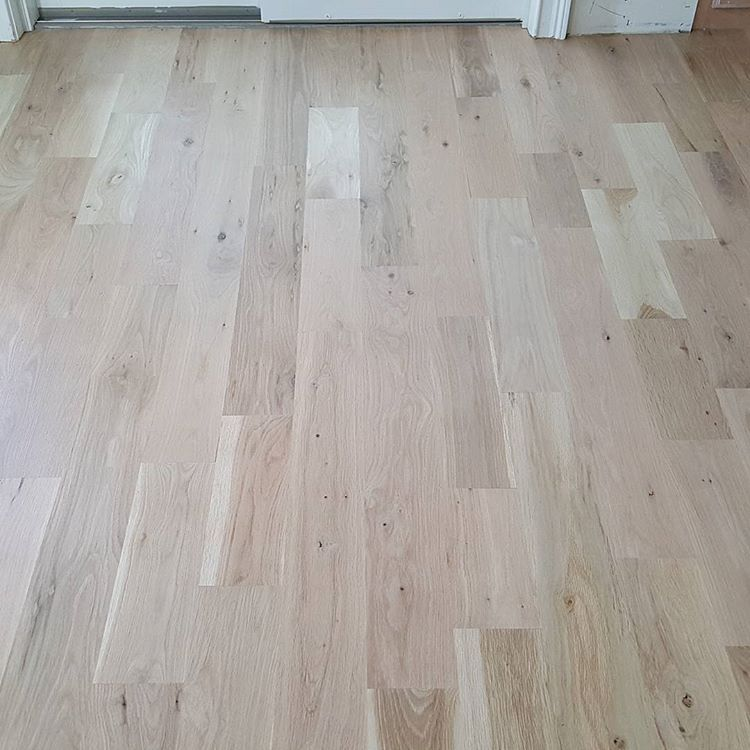 White Oak Install Installed And Finished With Bona Nordic