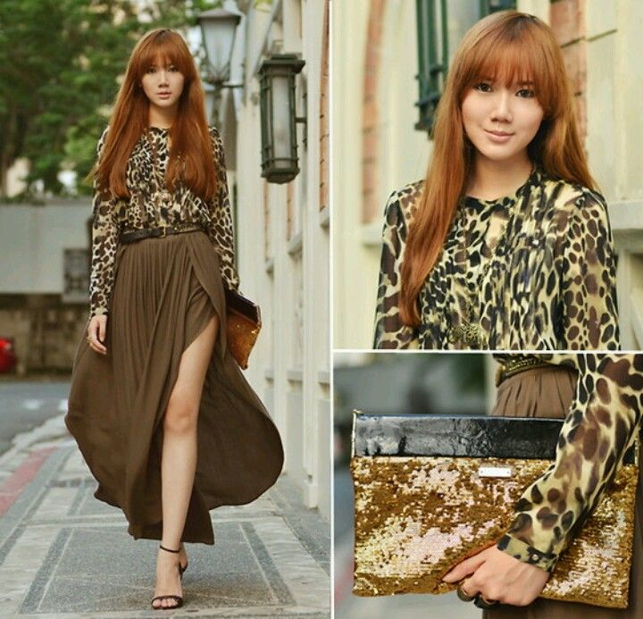 171c33c9dd Animal print top + maxi skirt  Camille Co via lookbook  Philippines ...