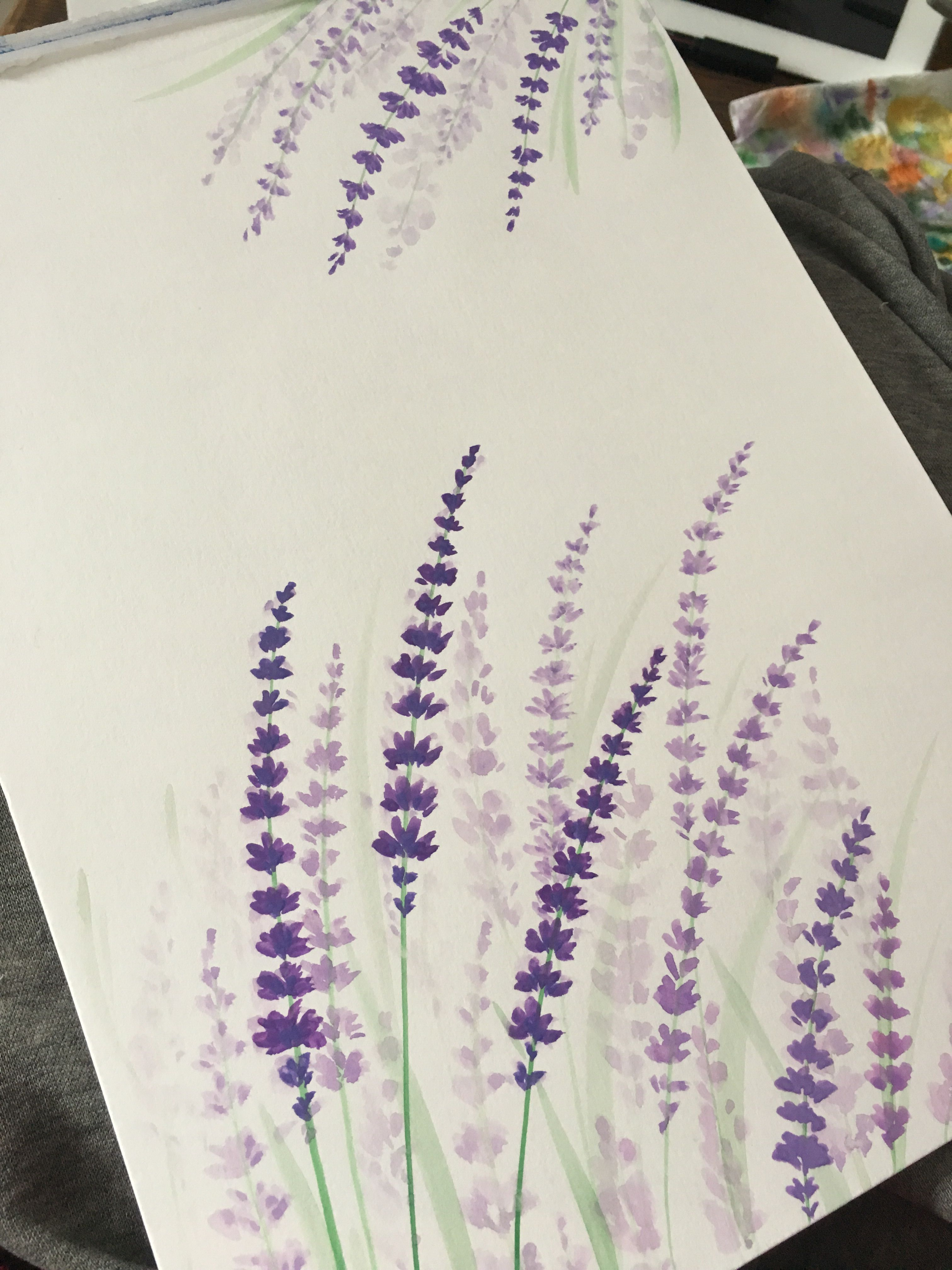 Lavender Watercolor Ninabutterfliesillustrations Watercolor