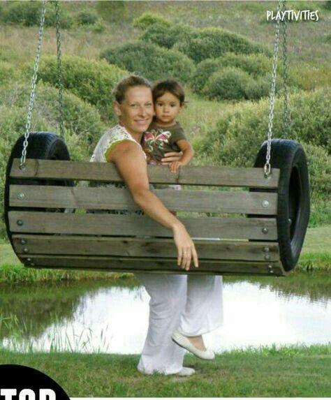 Swing outdoors