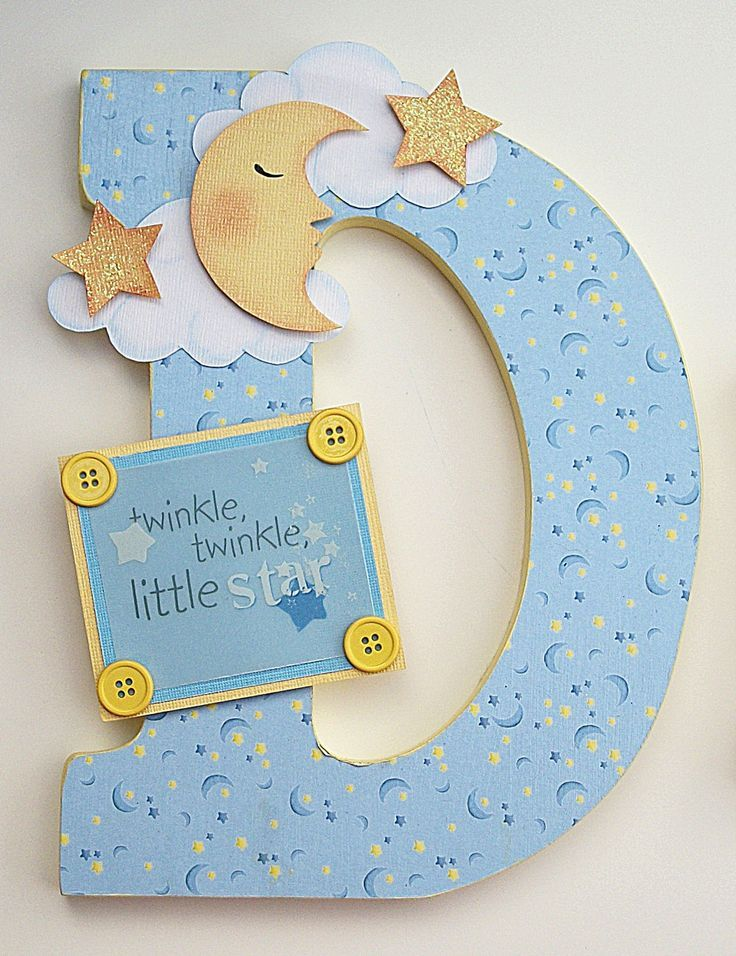 Baby Letters S Room With Stars Nursery Decor Moon