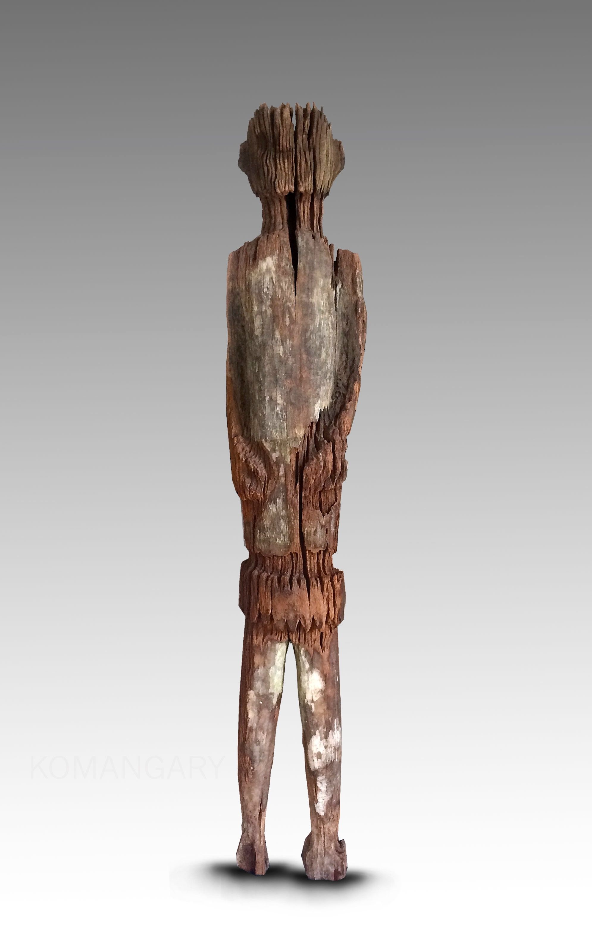 Sold Hampatong 'ancestor Figure' Dayak Tribe 19th Century Older Iron Wood