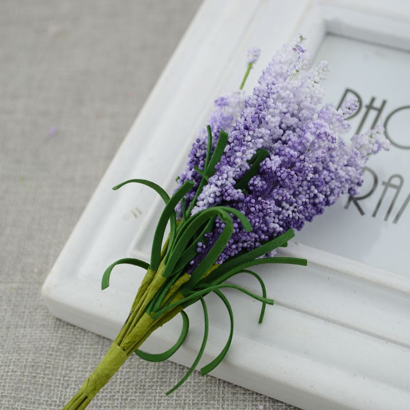 Free shipping 30pcs Wreath material Artificial flowers PE lavender