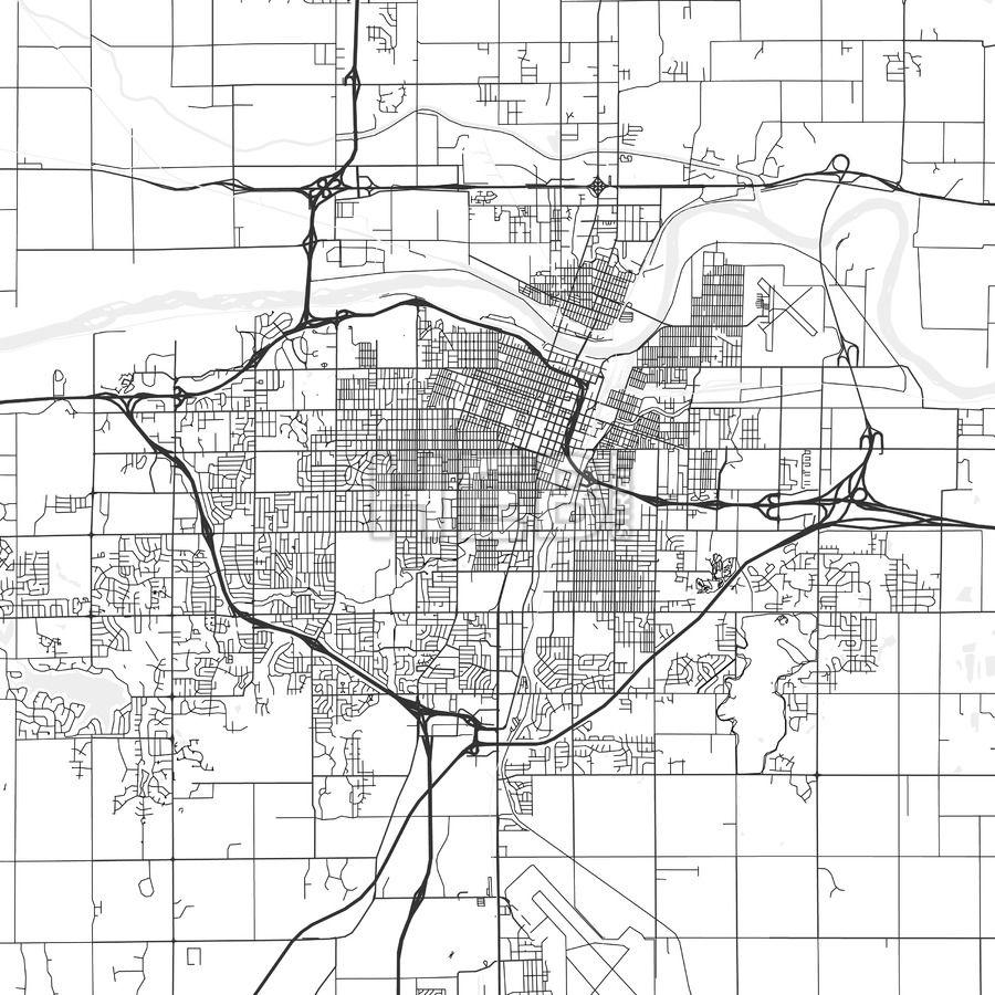 Topeka Kansas Area Map Light Topeka kansas and Ui ux