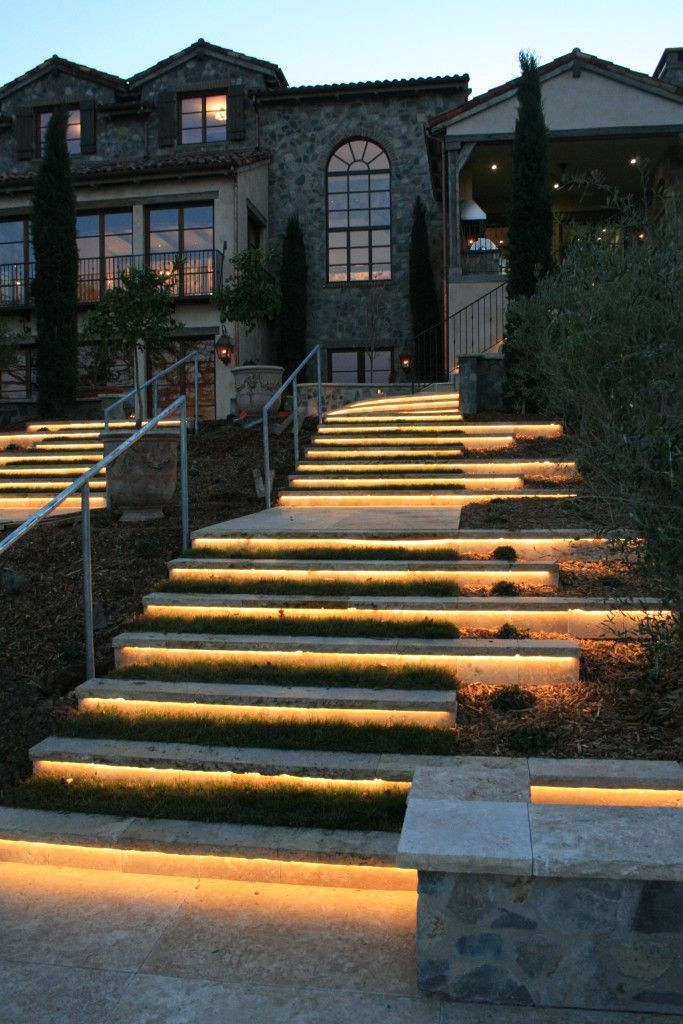 Stone Steps SBI Materials how to light the deck stairs Deck