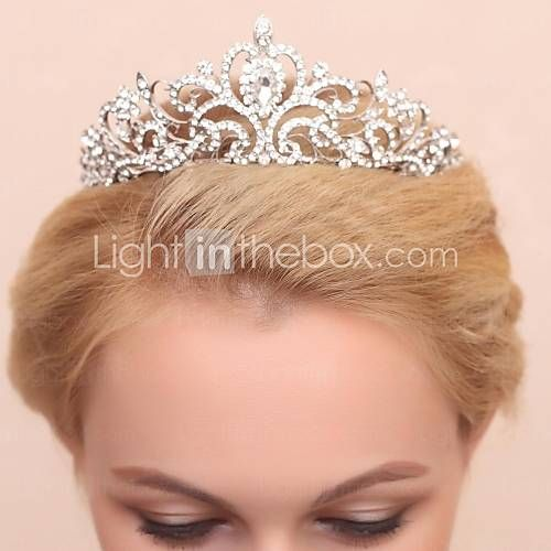 Gorgeous Alloy With Clear Crystals And Imitation Pearls Wedding Bridal Tiara - USD $ 14.99