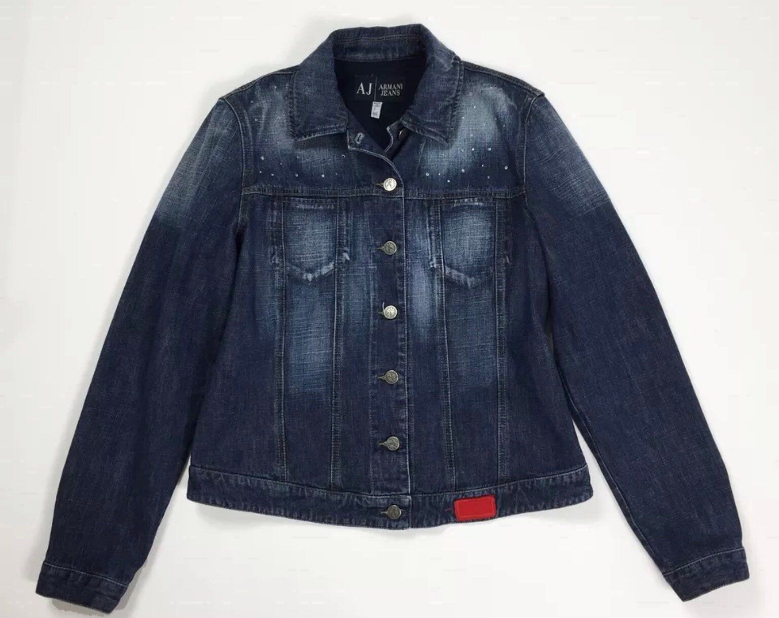 low cost 683d2 7cf63 Armani jeans jacket donna vintage usato denim giacca blu ...