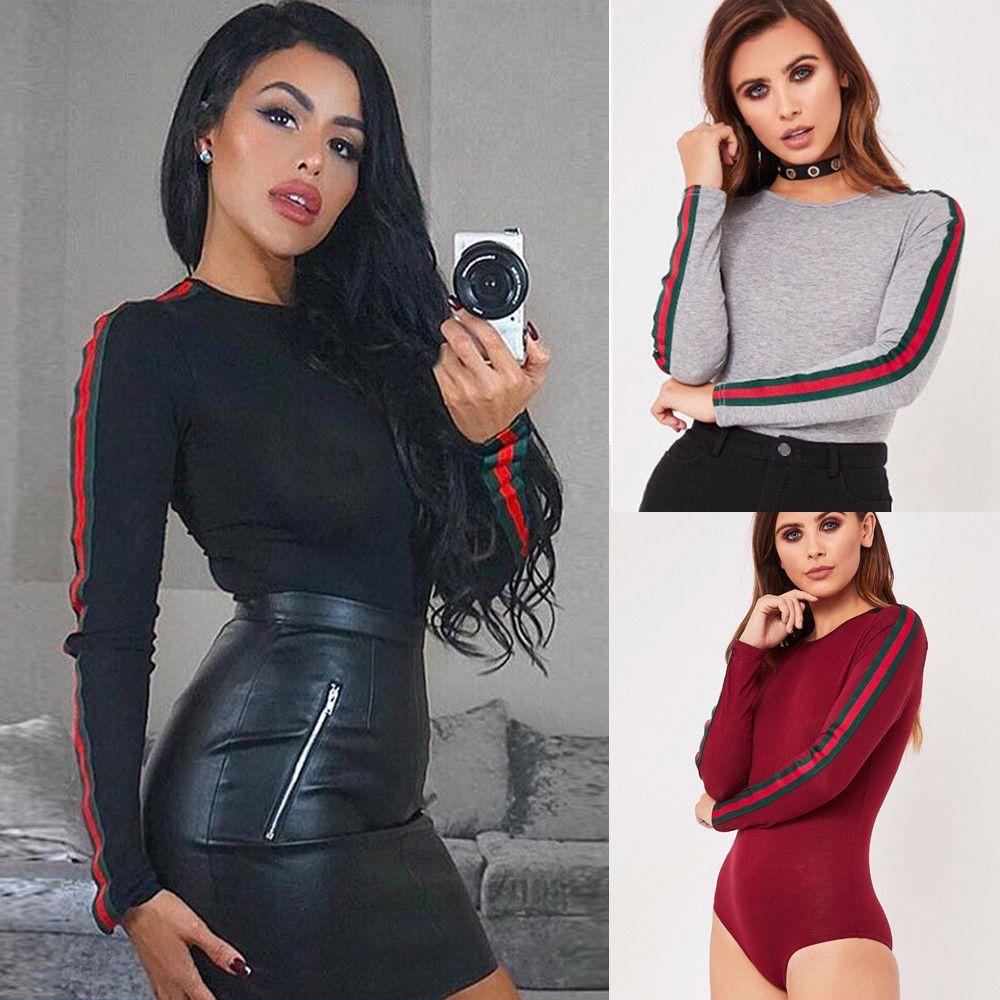 1a412569792 Hot Women Ladies Bodysuit Stretch Leotard Long Sleeve Body Tops T shirt  Jumpsuit  Unbranded  Jumpsuit  Casual