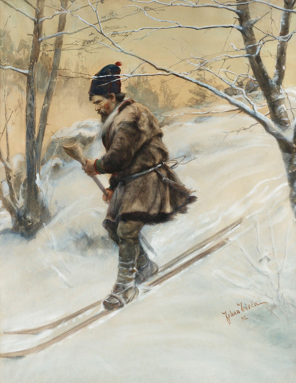 российские граждане лыжи в древней руси картинки камень это
