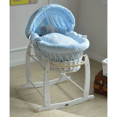 LITTLE GEM KINDER VALLEY MOSES BASKET NATURAL COUNTRY PINE ROCKING STAND NEW
