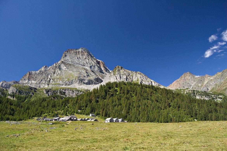 Alpe Veglia italian natural park and Monte Leone in background, Piemonte, Italy