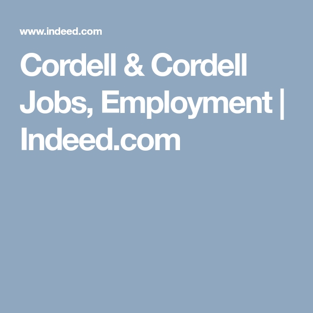 Cordell Cordell Jobs Employment Indeed Com Job Food And Drink Employment
