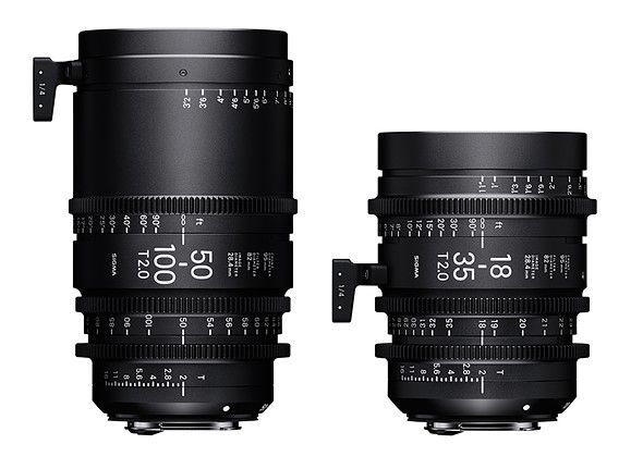Sigma announces pricing for 18-35mm T2 and 50-100mm T2 Cine lenses
