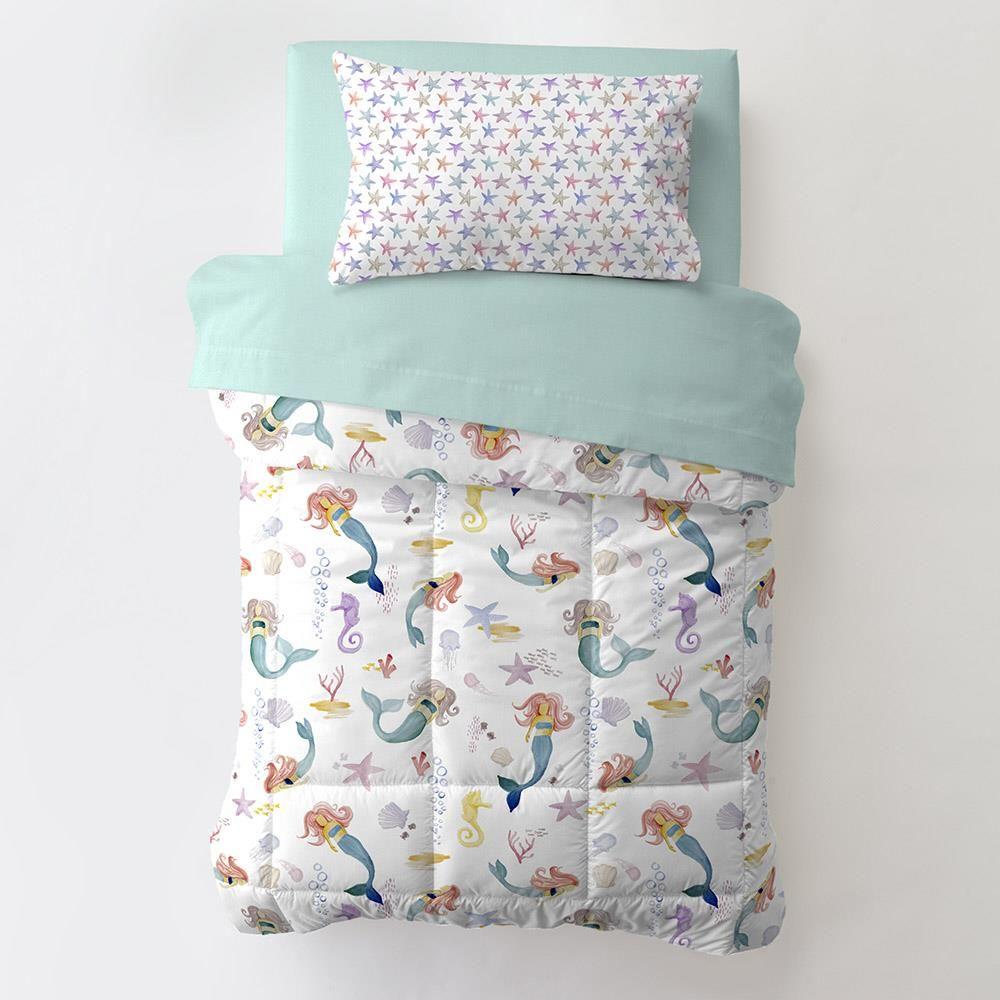 Watercolor Mermaids Toddler Bedding In 2020 Mermaid Toddler Bedding Toddler Bed Toddler Bed Mattress