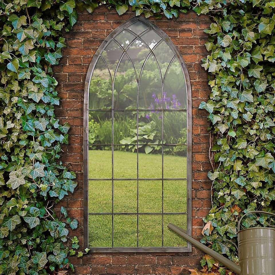 Chapel Distressed Bronze Garden Mirror Dunelm Garden Mirrors Outdoor Mirror Garden Patio Sets