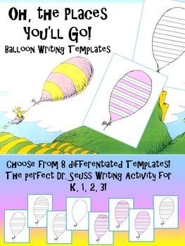Oh The Places You 39 Ll Go Balloon Writing Templates The