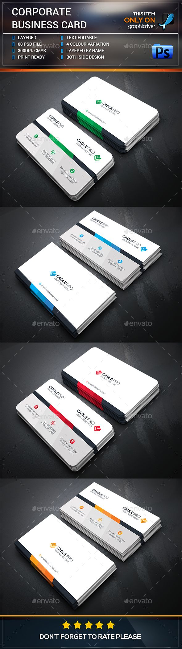 Corporate business card template corporate business card corporate business card template photoshop psd elements concept available here https reheart Choice Image