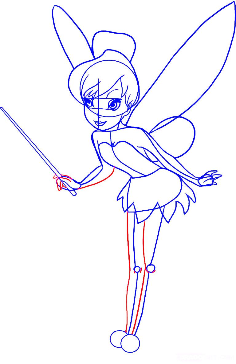 Uncategorized Easy To Draw Tinkerbell dessin coloring pages pinterest drawings and illustrations learn how to draw tinkerbell step 6