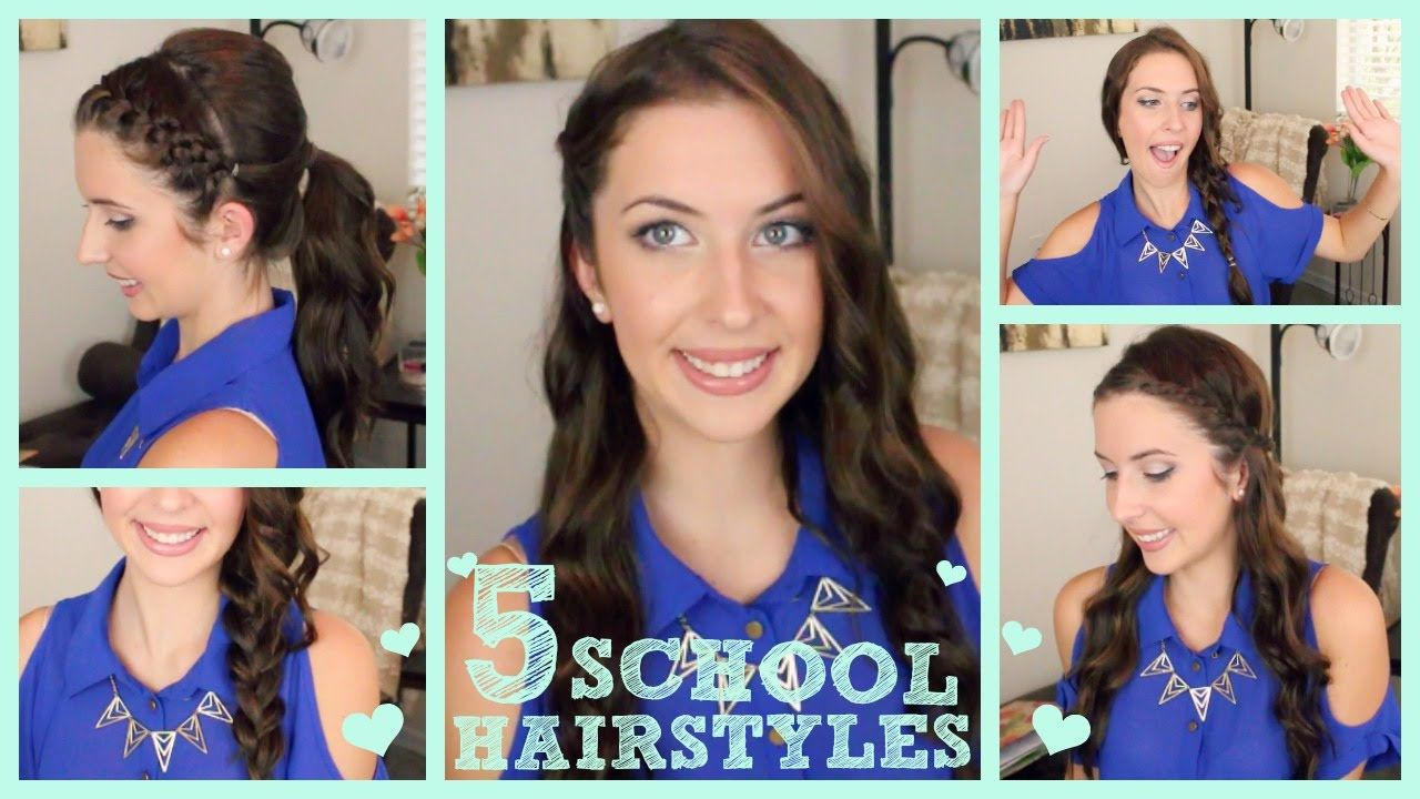 Back to school quick u easy hairstyles hair pinterest quick