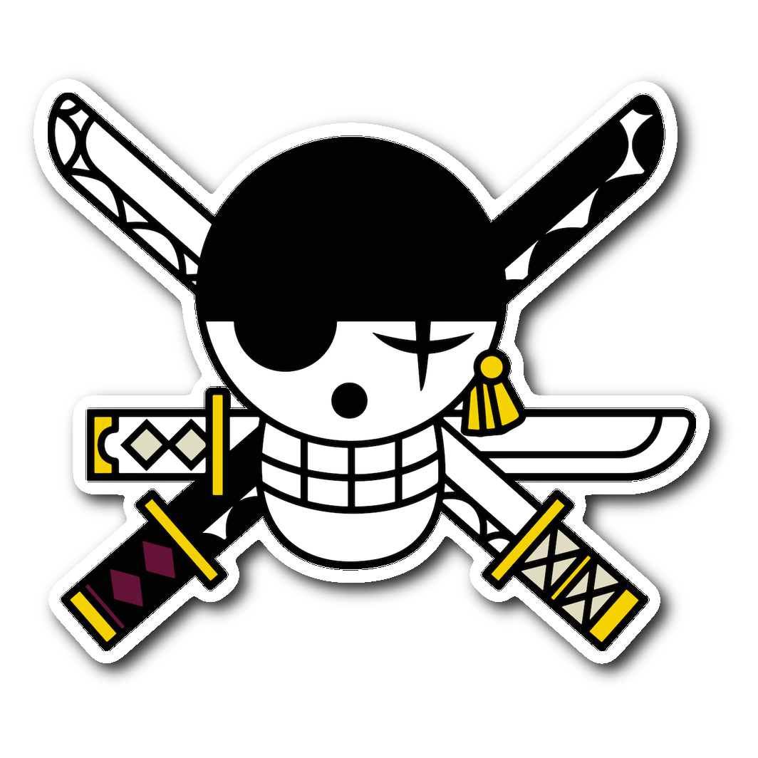 One Piece Zoro S Jolly Roger Sticker Stickers Jolly Roger