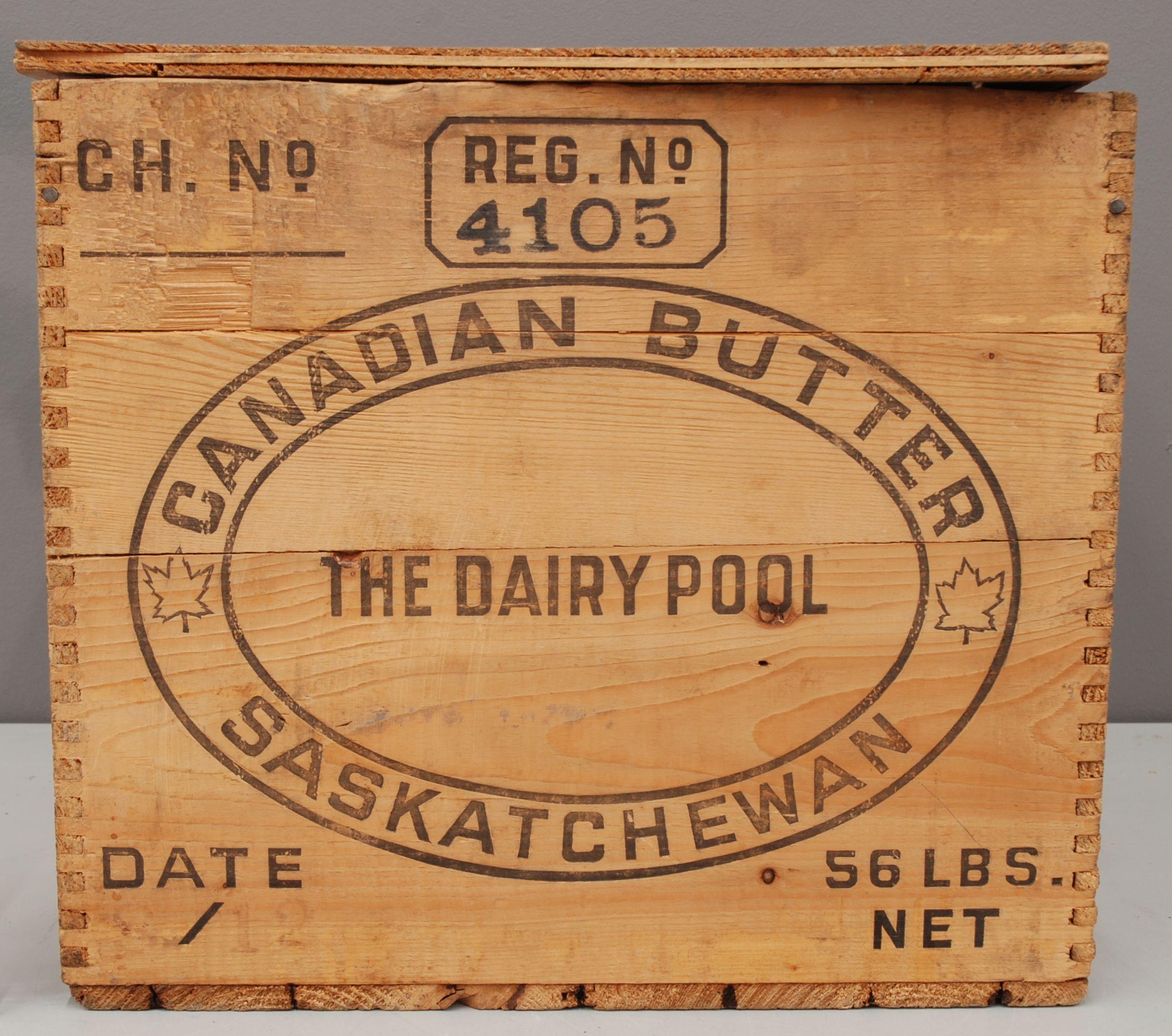 Dovetailed Butter Box Saskatchewan Co Op
