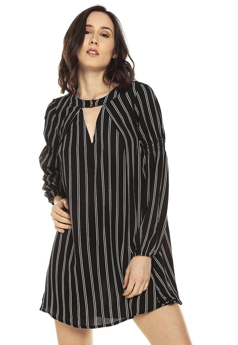 782780b286 Vestido Negro-Blanco Paris District - Compra Ahora