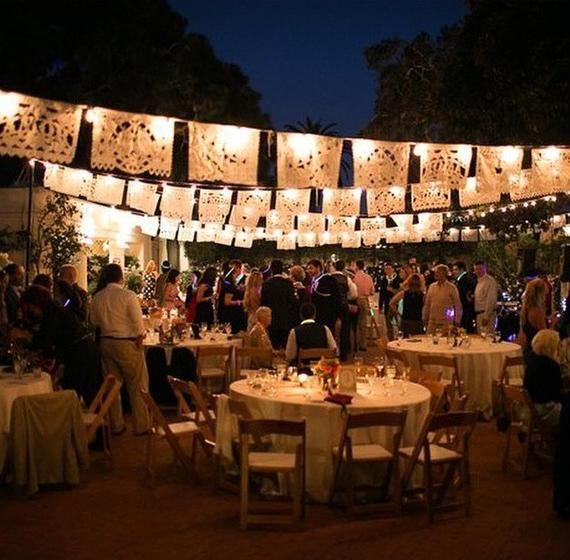 Guirnalda de boda AMOR Papel Picado Banner Fiesta Banner de boda Bodas papercut bunting Decoración mexicana boda al aire libre mexico