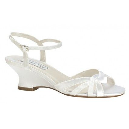White Touch Ups Margie Bridal Shoes