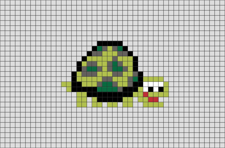 Giant Tortoise from BrikBook.com #Animal #Originals #GiantTortoise #Reptile #pixel #pixelart #8bit Shop more designs at http://www.brikbook.com