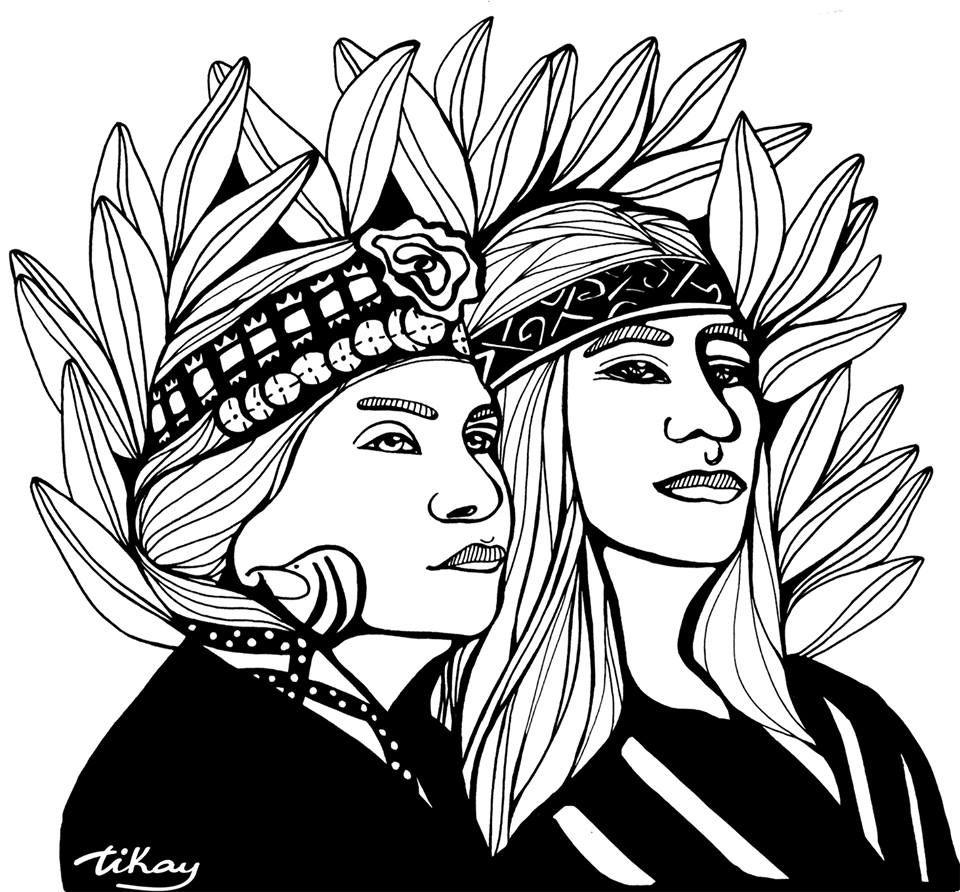 Ilustracion De Tikay Arte Mapuche Dibujos Mapuches Dibujos