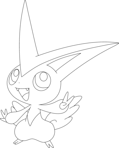 Victini Coloring Page In 2020 Pokemon Coloring Sheets Pokemon Coloring Pages Pokemon Coloring