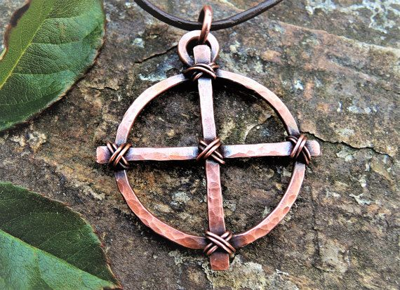 Celtic cross pendant odins cross solar cross wheel cross celtic cross pendant odins cross solar cross wheel cross pendant copper norse sun cross wiccan and pagan sun cross aloadofball Choice Image