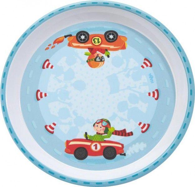 HABA Kindergeschirr Flotte Flitzer Melaminteller - lohnende Bonuspunkte sammeln, auf Rechnung bestellen, DHL Blitzlieferung!