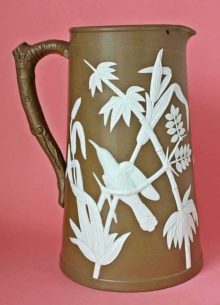 James Dudson Jasperware British Stoneware Pottery Jug/Pitcher – 1860 ...